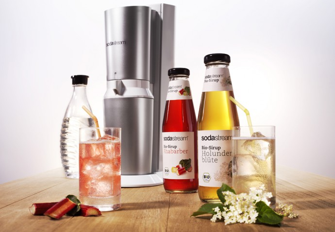 SodaStream_Bio-Sirup Rhabarber und Holunderblute